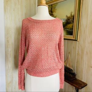 Guinevere • Sparkle Pink Knit Sweater